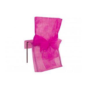 4 housses de chaise avec noeud en tissu non tissé