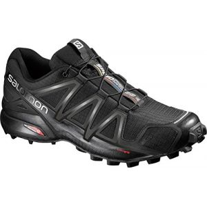 Salomon Homme Speedcross 4 Chaussures de Trail Running, Noir (Black/Black/Black Metallic), Taille: 44