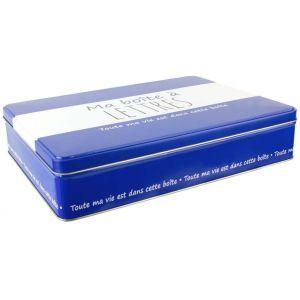 Ma boîte à Lettres 30,5x22,5x6,5 cm Bleu foncé et blanc