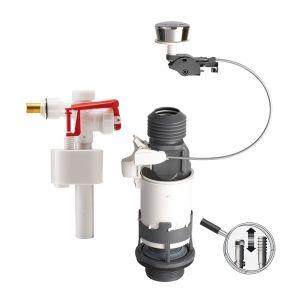 Wirquin Mécanisme NF simple chasse à câble et robinet flotteur F89 Pro 12031701