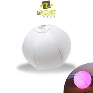 Smart & Green Ballon lumineux LED « Bubble » multicolore et flottant 60 cm