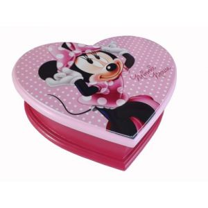 Kids Euroswan Boîte à bijoux coeur en bois Minnie