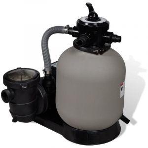 VidaXL Filtre à sable avec pompe de piscine 14''