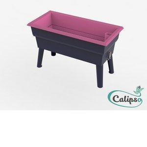 Calipso Jardinière MINI 40 L gris/framboise