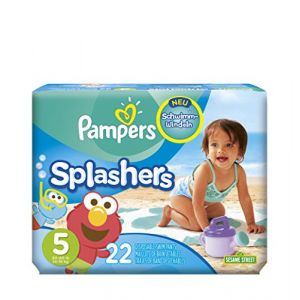 Pampers Splashers taille 5 - 22 maillots de bain jetables