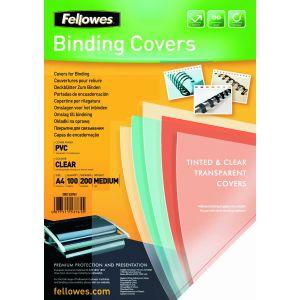Fellowes 5375901 - Boîte de 100 couvertures PVC 180µ, A4, transparent