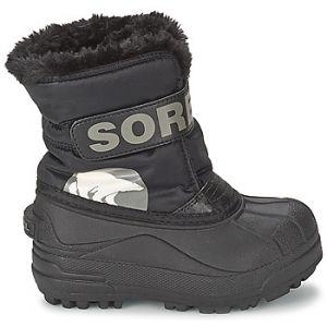 Sorel Snow Commander, Bottes de Neige Fourrées Mixte Enfant, Noir (010), 31