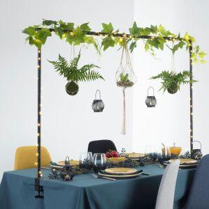 Atmosphera Barre décorative de Table Ajustable jusqu'à 2 mètres en métal Noir pour extérieur ou intérieur