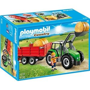 Playmobil 6130 Country - Grand tracteur à remorque