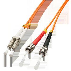 Lindy 46494 - Câble Ethernet Fibre optique Duplex LC/ST 10 m Orange