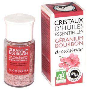 Aromandise Cristaux d'Huiles Essentielles Bio Géranium Bourbon 20g