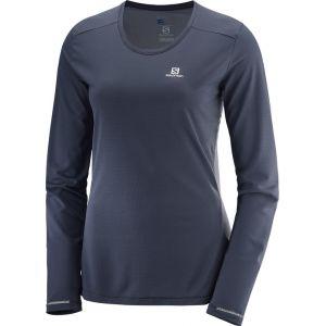 Salomon Agile - T-shirt manches longues running Femme - gris L T-shirts course à pied