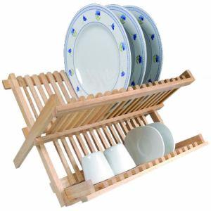 Metaltex Egouttoir à vaisselle pliable en bois