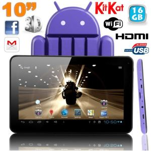 "Yonis Y-tt55g16 - Tablette tactile 10"" sous Android 4.4 KitKat Dual Core HDMI (8 Go interne + Micro SD 8 Go)"