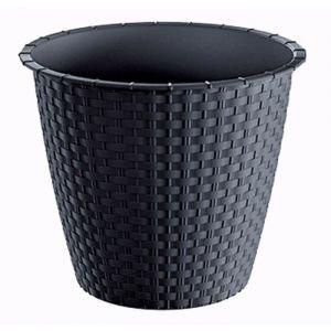 PROSPERPLAST Pot plastique rond - Ø 195 mm - Gris anthracite