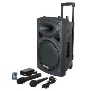 Ibiza Sound Port8uhf-bt Sono portable avec usb/vox/bluetooth et micros uhf+filaire
