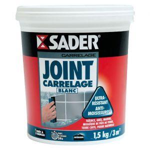 Sader Joint carrelage - blanc - 1.5 Kg