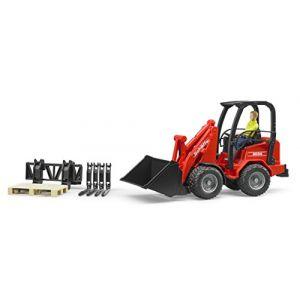 Bruder Toys 2191 - Chargeur compact Schäffer 2034 avec Accessoires