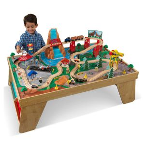 KidKraft Ensemble table et train cascade naturelle