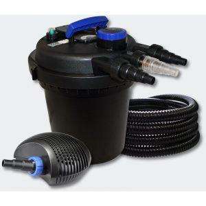 Kit filtration b in à pression 6000l 11W UVC 70W éco Pompe 25m Tuyau