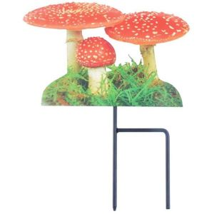 Esschert design Pique de jardin motif Amanite tue-mouches -