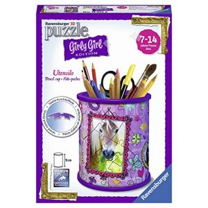 Ravensburger Girly Girl - Puzzle 3D Pot à crayons chevaux