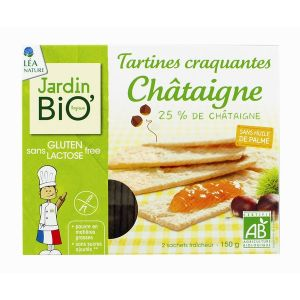 Jardin Bio Tartines craquantes châtaigne sans gluten