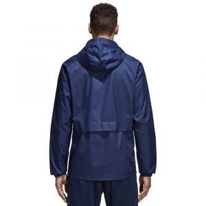 Adidas CON18 Rain JKT Veste de Sport Homme, Bleu Fonce/Blanc, FR (Taille Fabricant : 3XL)