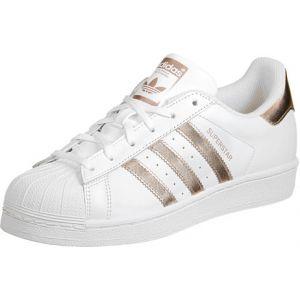 Adidas Superstar W, Sneakers Basses Femme, Blanc (Ftwwht/Supcol/Ftwwht), 38 EU