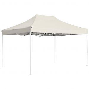 VidaXL Tente de réception pliable Aluminium 4,5x3 m Crème