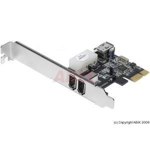 Abix 305017 - Carte PCI-Express FireWire 400 1394a 2+1 port