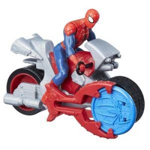 Hasbro Figurine Spiderman Blast 'n Go avec moto