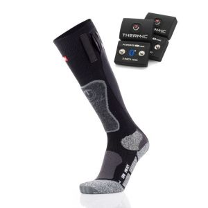 Therm-Ic Set chaussettes Thermic Powersock Heat Uni avec S-Pack 1400 Bluetooth Noires Taille S