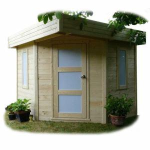 Solid S8230 - Abri de jardin de coin Chanzy en bois 28 mm 5,45 m2