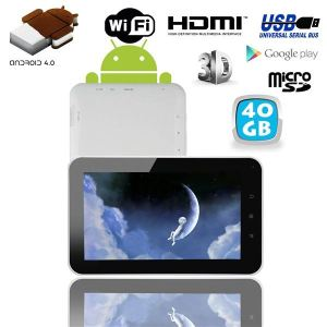 """Yonis Y-tta4.07p1.2g40go - Tablette tactile 7"""" 3D HDMI sous Android 4.0 (8 Go interne + Micro SD 32 Go)"""