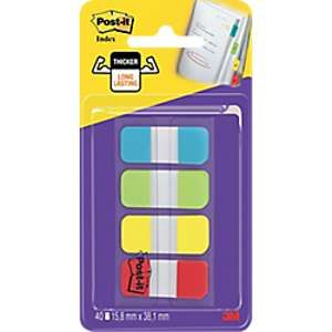 Post-It Blister de 40 mini marque-pages rigides format 1,58x3,8cm