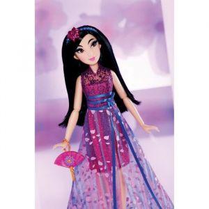 Hasbro Disney Princesses - Poupée Princesse Disney Série Style Mulan - 30 cm