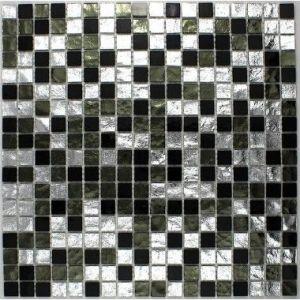 Gloss - Carrelage mosaïque en verre pour douche, salle de bain ou cuisine (30 x 30 cm)