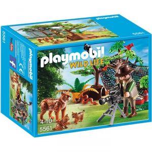 Image de Playmobil 5561 Wild Life - Explorateur et famille de lynx
