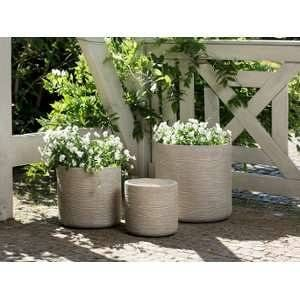 Beliani 3 cache-pots beige Samos