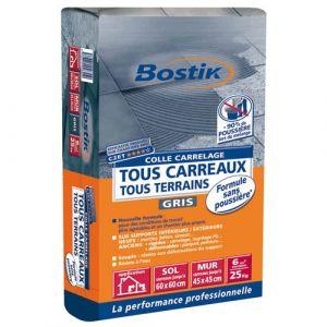 Bostik Colle carrelage - sans poussière - gris - 25 Kg - Colle carrelage