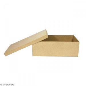 decopatch Support à décorer en papier mâché - Boîte à ballerines - 29 x 13 x 10 cm