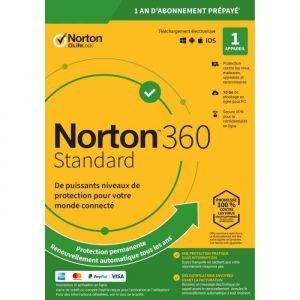 Norton 360 Standard 10Go 1 poste - Logiciel antivirus et optimisation [Windows]