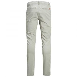 Jack & Jones Intelligence - Pantalon chino coupe ajustée - Gris clair