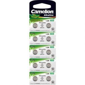 Camelion Pack de 10 piles Alcaline AG0 0% Mercury/Hg