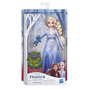 Hasbro Disney La Reine Des Neiges 2 - Coffret Poupee Princesse Disney Elsa et Ses Amis + Accessoires