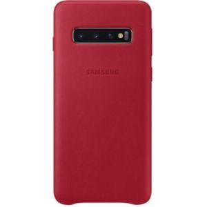 Samsung Coque S10 Cuir rouge bordeau