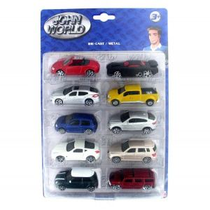 John World 10 voitures en métal