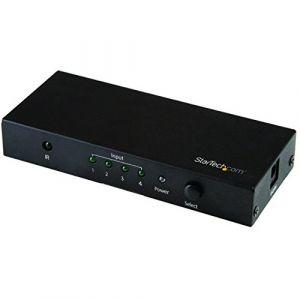 StarTech.com 4-Port HDMI Switch - 4K HDMI Switch Box - Ultra HD 4K 60Hz - commutateur vidéo/audio - 4 ports