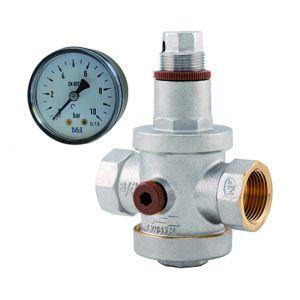 Noyon & Thiebault Réducteur de pression NF femelle avec manomètre F20x27